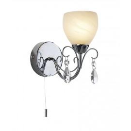 Decorative Single Bulb Bathroom Wall Light