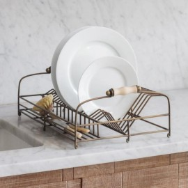 Antique Brass Dish Drying Rack