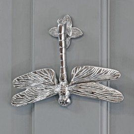 Bright Chrome Luna Dragonfly Door Knocker