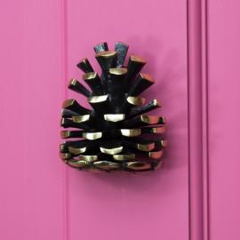 Solid Brass Pine Cone Door Knocker