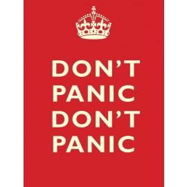 "Traditional ""Don't Panic"" Metal Wall Sign"