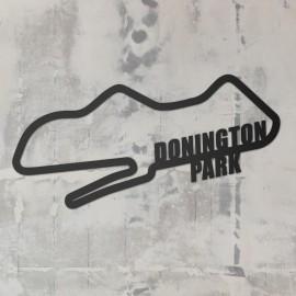 Donington Park Racing Circuit Wall Art on a Rustic Grey Wall