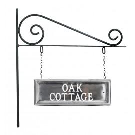 Classic  Rectangular Double Sided House Name Sign Polished Aluminium