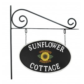 Sunflower Double Sided Cast Iron Effect House Name Sign