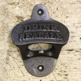 """Iron Bottle Opener With """"Drink Real Ale"""" Design"""