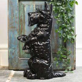Heavy duty Black cast dog door stop
