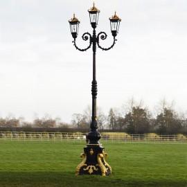 """Empress Eleanor"" Ornate Lamp Post in a Black & Gold Finish"
