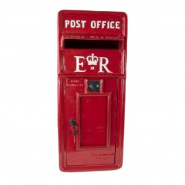 'Original Reproduction' Elizabeth Regina Post & Parcel Box Finished in Red With White Text