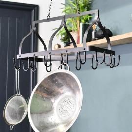 """""""Ellesmere"""" Hanging Saucepan Rack Finished in Black"""
