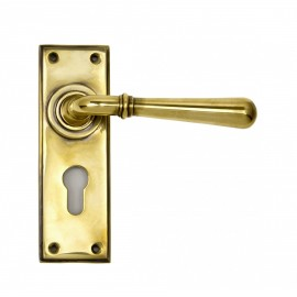 """""""Emerson"""" Euro Keyhole Aged Brass Lever Handles"""