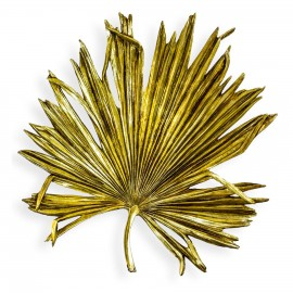 Palm Leaf Wall Art in a Gold Finish