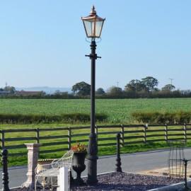 Copper Victorian Lamp Post Set 3.7m