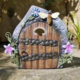 Painted Fairy Door Garden Ornament