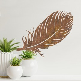 Feather Wall Art on a Cream Wall