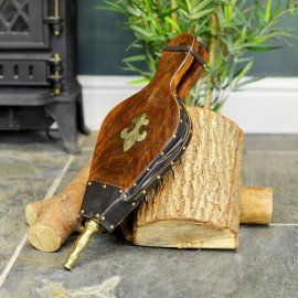Traditional Wooden and Leather Bellows