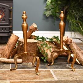 Antique Brass Firedogs