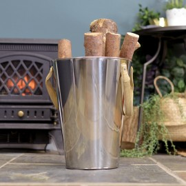 """Stainless Steel """"Smooth and Sophisticated"""" Log Holder"""