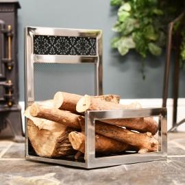 Interior Fireside log storage
