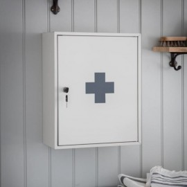 White Wall Mounted First Aid Cabinet
