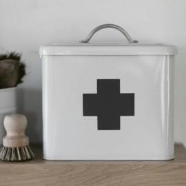 White Steel First Aid Box