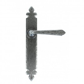 Antique Pewter Tudor Sprung Lever Latch Set