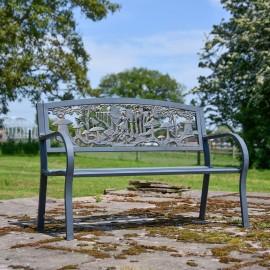 Flower Fairies Cast Iron Bench in Situ