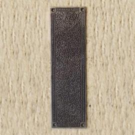 'Inca' Ornate Finger Plate in a Rustic Finish