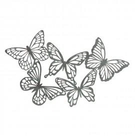 Flying Butterflies Wall Art in a Verdigris Finish