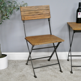 Folding Industrial Dining Chair in situ at the Dining Table
