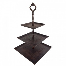 Rustic Brown Three Tier Cake Stand