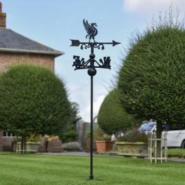 Liver Bird Free Standing Weathervane in Use in the Garden