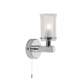 Frosted Glass Contemporary Single Bulb Wall Light