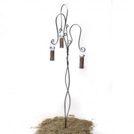 Tree Standing Bird Feeder in a Galvanised Finish