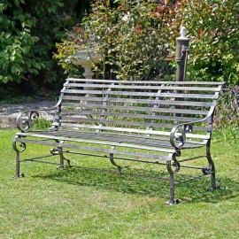 Rustic Three-Seater Garden Bench