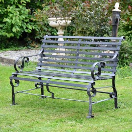 Black Two Seater Park Bench