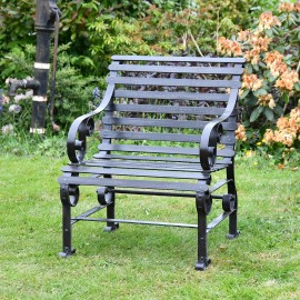 Black One Seater Park Bench