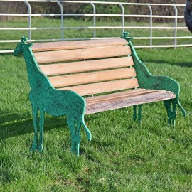 Vintage Look 'Gambhira' Giraffe Garden Bench