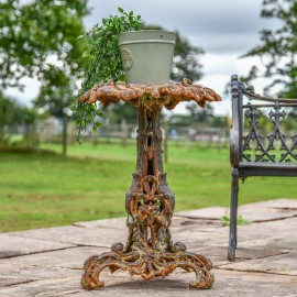 'The Leopold' Vintage Rustic Gothic Cast Iron Side Table