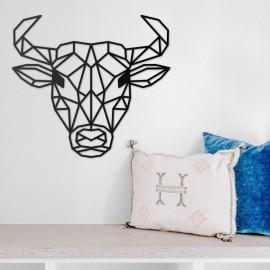 Geometric Bull Wall Art