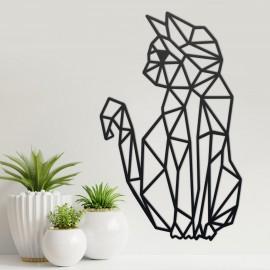 Geometric Cat Steel Wall Art