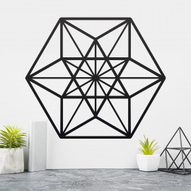 Geometric Cuboctahedron Wall Art in a Modern Home