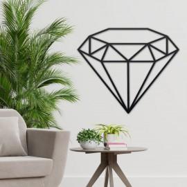 Geometric Diamond Steel Wall Art