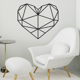 Geometric Love Heart Steel Wall Art