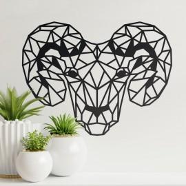 Geometric Steel Ram Wall Art in the Home