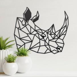 Geometric Rhino Steel Wall Art in the Home