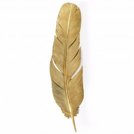 Feather Wall Art in a Gold Finish