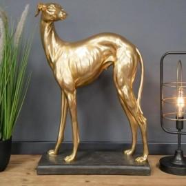 Gold Whippet Interior Sculpture