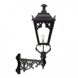 Gothic Style Lantern on an Ornate Corner Bracket