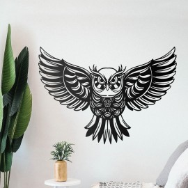 """""""Great Horned Owl"""" Wall Art in Situ in the Home"""