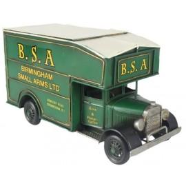 Green Vintage Van Replica Storage Box